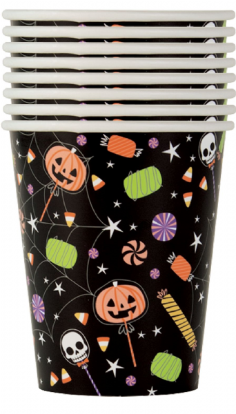 Skeleton Trick Or Treat Paper Cups (8)